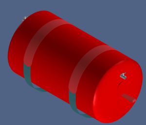 Floating pipe 1000 CAD